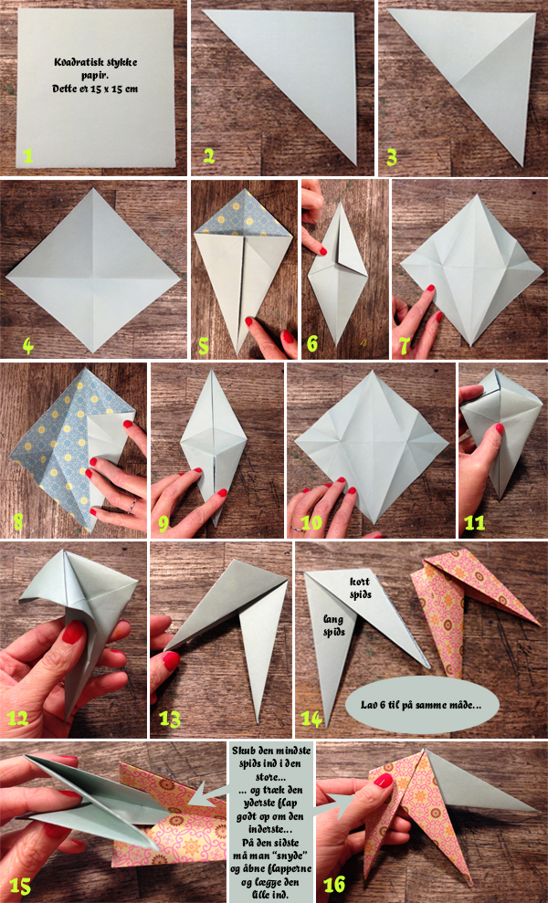 How to do origamistjerne