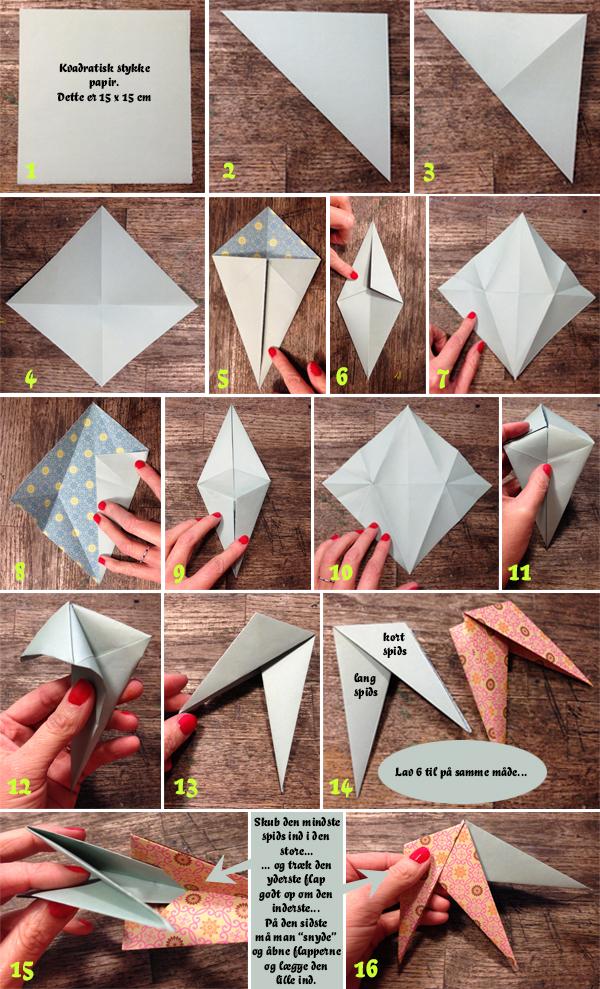 How to do origamistjerne